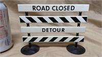 Road Closed Detour Sign