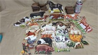 Lot of Cardboard Animals & Stands