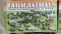 3 Bxs Wood Farm Animal Sets