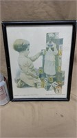 Framed Cream of Wheat Ad Page
