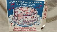 Happy Birthday Musical Cake Plate*