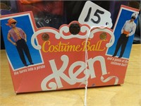 Costume Ball Ken w/ 2 costumes included