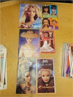 assorted Barbie collectors books
