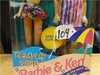Beach Fun Barbie and Ken 1993