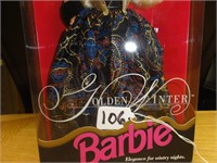 Golden Winter Barbie evening elegance series 1993
