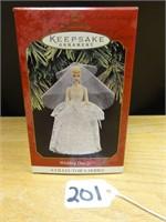 Hallmark keepsake wedding day Barbie ornament