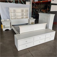 White Wooden Bedroom Set
