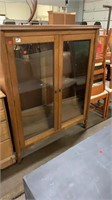 2 Door Glass Front Cabinet 44.5x14.5x54.5