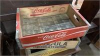 4 Wood Coke Crates.