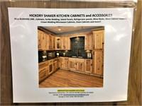 Hickory Shaker Kitchen Cabinet Set