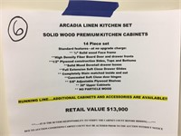 Arcadia Linen Kitchen Cabinet Set