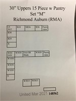 Richmond Auburn Kitchen Cabinet Set