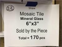 """Shaw 6""""x3"""" Mosaic GlassTile"""