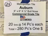 "Metropolitan 6""x6"" Bull Nose Commercial Tile"