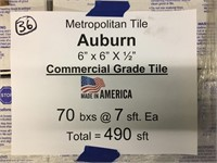 """Metropolitan 6""""x6"""" Commercial Tile"""