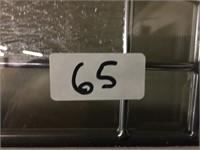"36"" LH Steel Entry Leaded Glass Prehung Door"