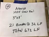 """Arauco 3"""" x 8' Chair Rail"""
