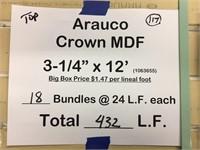 """Arauco Crown 3 1/4"""" x 12'"""