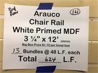 """Arauco  Chair Rail 3 1/4"""" x 12'"""