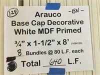 "Arauco Base Cap 3/4 x 1 1/2"" x 8'"