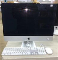 Apple Computer Monitor with keyboard and mouse