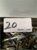 Lot of Brass Air Line Couplers and Fittings
