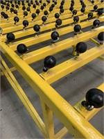 HD Welded Steel Glass Roller Table