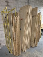 Large Lot of Misc Partial Board w Steel Racking