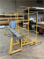Group of Steel Table and Racking