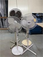 4 Pedestal Floor Fans