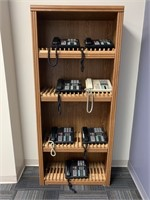 Bookcase with Office Telephones