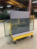 HD Welded Steel Glass Roller Cart
