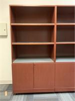Modern Bookshelf with Lower Storage