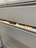 Modern 5 Drawer Lateral Filing Cabinet