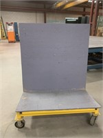 HS Welded Steel Rolling Glass Cart