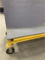 HS Welded Steel Rolling Glass Cart