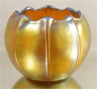 Steuben Aurene miniature Iridized glass vases