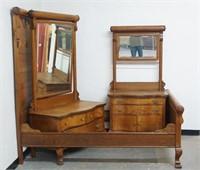 3 piece American Oak Bedroom Set