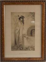 Two Art Nouveau engravings