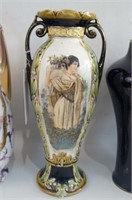 Four Austrian & German Portrait Vases