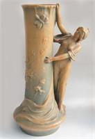Teplitz  Austria CROWNOAKWEAR Art Nouveau Vase
