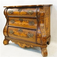 Antique Dutch highly inlaid Bombay  commode