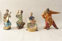 4 Chinese porcelain figures