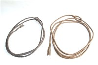 Two Braided Leather Reata's