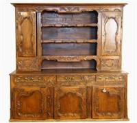 19th c. Spanish Oak Plate cupboard