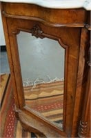 Victorian French Marble top console cabinet