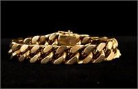 14 Karat Gold Curb-Link Bracelet