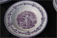 English 1870 portrait platter bowls and plates 19
