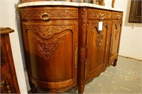 19th c. French Louis XV  Marble top Buffet