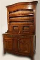 Antique French inlaid sideboard cupboard
